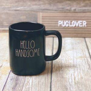 RAE DUNN black mug { HELLO HANDSOME }